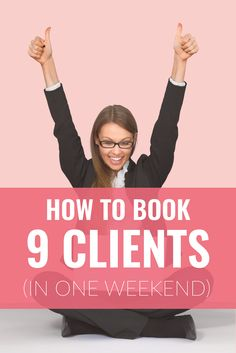 How to Book 9 Clients in a Single Weekend // Miranda Nahmias Design Creative Business, Business Tips, Online Business, Business Meme, Business Essentials, Salon Business, Business Coaching, Business Planning, Business Marketing