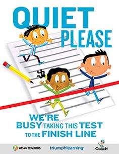 FREE Classroom Testing Door Sign #weareteachers