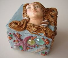 Venus, polymer clay box by Fabi