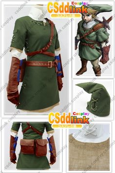 The Legend of Zelda Zelda Link Cosplay Costume by CSddlinkcosplay, $95.99