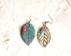 Un preferito personale dal mio negozio Etsy https://www.etsy.com/it/listing/256111617/orecchini-pendentifoglie-leaf