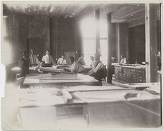 Gilded Age New York City Architectural firm of: Carrère and Hastings, workshop. c.1875.~~ (NYPL) ~~ {cwl}