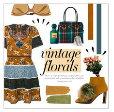 """""""VINTAGE FLORAL VIBES"""" by taliafzl ❤ liked on Polyvore featuring Coach, Pollini, Miu Miu, Dolce&Gabbana, Effy Jewelry, Tom Ford, Old Navy and vintage"""