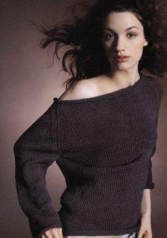 Vogue Knitting Boatneck Pullover
