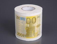 Creative 200 Euros Toliet Paper Scroll Creative Toilet Paper http://www.amazon.com/dp/B00O63KFZM/ref=cm_sw_r_pi_dp_aEjmub0CQ2M08