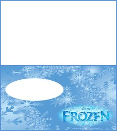 Frozen Birthday Party Place Name Card FREE PDF Download