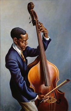 'Portrait of A Musician, 1949' by Thomas Hart Benton..Mr Benton from are area..friend of President Truman