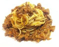 Ragù vegan di lenticchie e porcini secchi