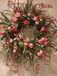 spring flowers, color, decorating ideas, tulip, front doors, easter wreaths, spring wreaths, diy home, floral wreaths