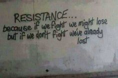 #Resistance #ingress