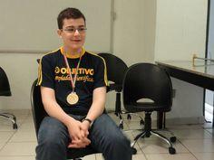 Matheus Camacho, 14, medalhista brasileiro nas Olimpíadas de Ciências que aconteceram no Irã