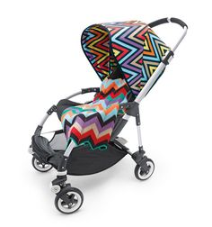 New sun canopy for bugaboo by Missoni. I need to change mine for summer ♥