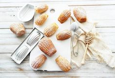 the author says this is the best madeleine recipe they have ever made. Twigg studios, madeleines, authentic french recipe from laduree French Dishes, French Desserts, French Food, French Recipes, Brunch, Cookie Recipes, Dessert Recipes, Gourmet Desserts, Pastry Recipes