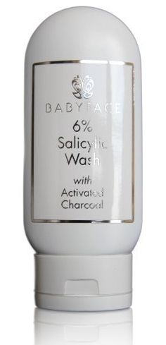 Babyface Anti-Aging and Acne Control 6% Salicylic Wash Cleanser with Activated Charcoal - Anti-Aging Acne Control Vitamin C, DMAE, Hyaluronic Acid Rooibos White Tea, Tamanu, 4.4 oz. *** This is an Amazon Affiliate link. Details can be found by clicking on