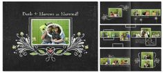 #storybook #digiscrap a 11.5 x 8.5 book, Heritage Makers template 91530 #chalkboard #diy