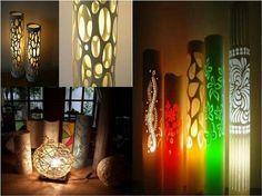 PVC pipe lamps.