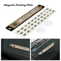 Car Luminous Magnetic Puzzle Parking Plate Temporary Stop Sign Telephone Number Plates Noctilucous