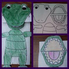 Egad! Alligator Storytimes -- alligator paper bag puppet