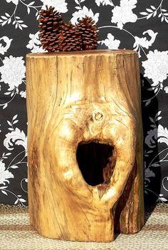 Live Edge Stump Coffee Table Handmade Tree Trunk by AllyCatVintage