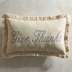 Thanksgiving Embroidered Lumbar Pillow | Pier 1 Imports