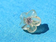 Tiny Rhinestone Vintage Button by legacybuttons on Etsy