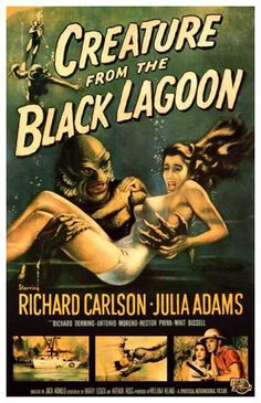 Creature from the Black Lagoon posters for sale online. Buy Creature from the Black Lagoon movie posters from Movie Poster Shop. We're your movie poster source for new releases and vintage movie posters. Posters Vintage, Old Movie Posters, Vintage Advertising Posters, Classic Movie Posters, Classic Horror Movies, Vintage Advertisements, Film Posters, Art Posters, Illustrations Posters