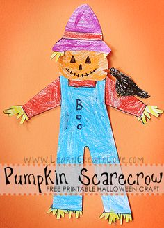 Pumpkin Scarecrow Printable Craft