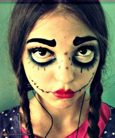 halloween makeup and face painting ideas creepy doll halloween costumemarionette