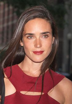 Jennifer Connelly. So beautiful!  Wasn't sure what board to put this on.  Love her hair!  Love the color burgundy she is wearing and the lipstick!!!