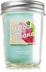 Beach Cabana Mason Jar Candle - Slatkin & Co. - Bath & Body Works