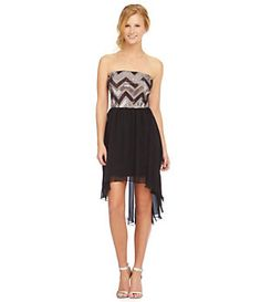 As U Wish Sequin Chevron Hi-Low Dress   Dillard's Mobile