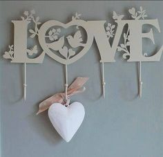 Love is the word! Wood Crafts, Diy And Crafts, Paper Crafts, Arts And Crafts, Wood Plastic, Scroll Saw Patterns, 3d Prints, Laser Cut Wood, Romantic Gifts