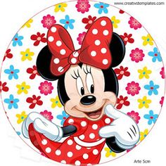 Minnie Mouse Stickers, Minnie Mouse Cake, Mickey Mouse Birthday, Mickey Mouse And Friends, Disney Mickey Mouse, Minnie Mouse Drawing, Disney Frames, Mouse Parties, Baby Disney