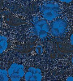 """""""Kiurujen yö"""" wallpaper by Birger Kaipiainen (1950's) Mummulan ruokahuoneen seinällä oli tämä hieno tapetti."""