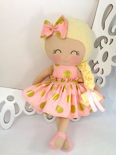 Cloth baby doll Handmade Dolls Fabric Dolls by SewManyPretties, $52.00