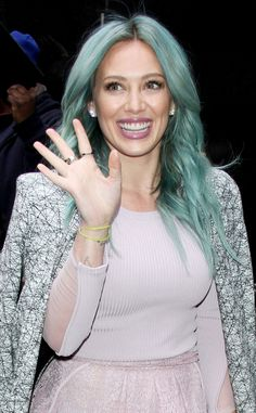 Hilary Duff takes on one of spring's top hair trends. Which will you try?