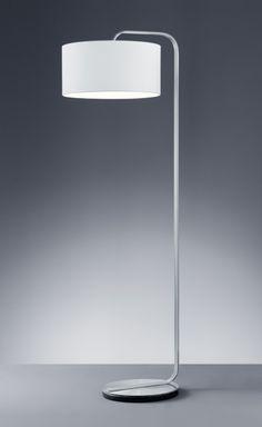 CANNES Trio - stojanová lampa - biely textil - 1520mm