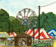 Delaware County Fair Delaware County, Sussex County, County Fair, Reference Images, Roller Coaster, Life Is Good, Ohio, Illustration Art, Fair Grounds