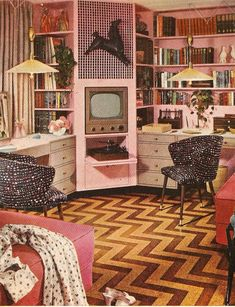 1960's office, a little too pink but it's legit