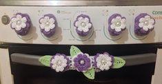 Wedding Ideas - All Ideas You Need Crochet Diy, Crochet Home, Filet Crochet, Crochet Flowers, Fabric Flowers, Crafts To Do, Arts And Crafts, Textile Fiber Art, Crochet Kitchen