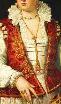 Alessandro Allori (1535-1607) Bianca Cappello (1548-1587), detail