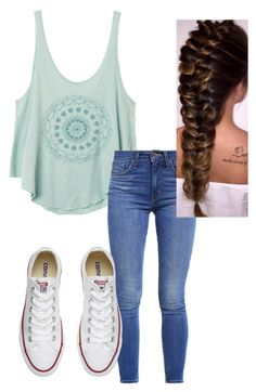 """Untitled #16"" by allygleavy12 on Polyvore featuring RVCA, Levi's and Converse"
