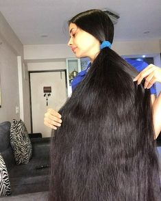 Long Hair Ponytail, Ponytail Updo, Ponytail Hairstyles, Down Hairstyles, Hair Meaning, Big Bun, Long Black Hair, Super Long Hair, Cut My Hair