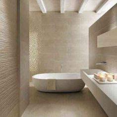 crer un intrieur zen avec la salle de bain beige beaucoup dides en - Salle De Bain Blanche Et Taupe