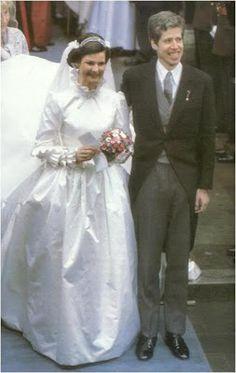 Princess Margaretha of Luxembourg and Prince Nikolaus of Liechtenstein March 20, 1982