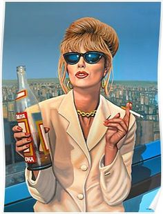 Joanna Lumley as Patsy Stone painting Poster