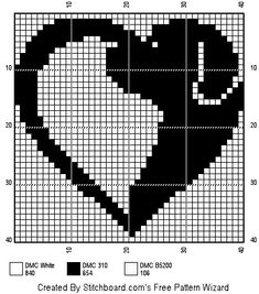 Схема узора_Сердце Cross Stitch Needles, Cross Stitch Heart, Cross Stitch Animals, Graph Crochet, Filet Crochet, Cross Stitch Designs, Cross Stitch Patterns, Cross Stitching, Cross Stitch Embroidery
