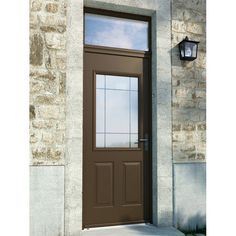 Mod le isaac porte d 39 entr e aluminium classique mi vitr e for Monter une porte d entree