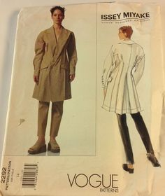 New Vogue Issey Miyake Pattern 2292 Sz 14 Jacket & Pants, Advanced Difficulty #Vogue
