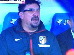 Top of the line technology. Mono Burgos of Atletico Madrid shows the future of soccer.